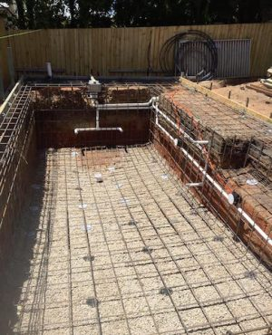 Concrete Pool Reinforcing and Plumbing of Pool Shell