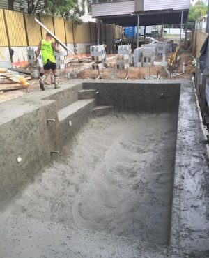 Concrete Pool Shell in Brisbane